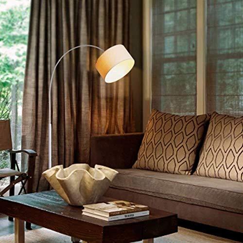 Equipo para el hogar Lámpara de pie Lámparas de pie Pantalla de tela redonda Hierro forjado Luces de piso modernas simples creativas para la sala de estar Dormitorio Bombilla incluida A (Color: B)