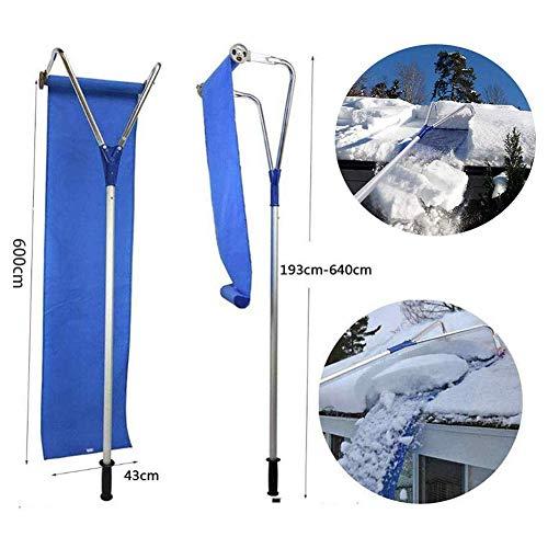 D&F Dach-schneefangentfernungswerkzeug mit verstellbarem Teleskopgriff für Entfernen des Daches für Schneefräse 20 Ft