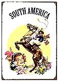 DJNGN Südamerika-Metall-Blechschilder, Reise-Poster,