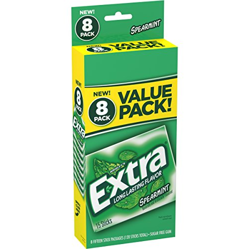 Extra Spearmint Sugar-Free Gum Value Pack - 120ct