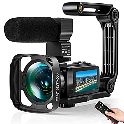 Video Camera Ultra 2.7K Camcorder HD 36MP Digital Vlogging Recorder with IR Night Vision and 16X Digital Zoom Equipped with Touchable Screen, External Microphone, Remote Control and Batteries included from VideoSky
