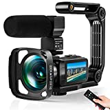 Video Camera Ultra 2.7K Camcorder HD 36MP Digital Vlogging Recorder with IR Night Vision and 16X...