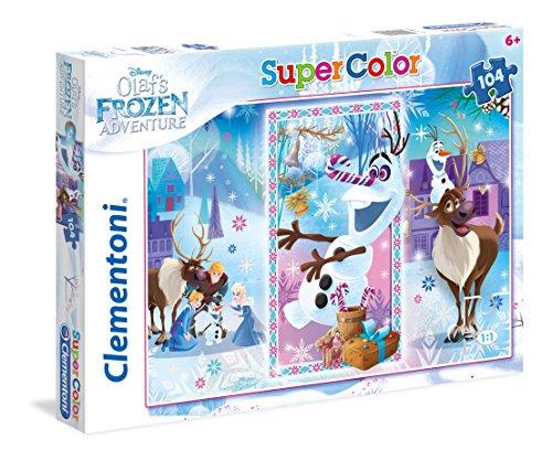 Clementoni- Olaf's Adventure Frozen Supercolor Puzzle Maxi, 104 Pezzi, 27093