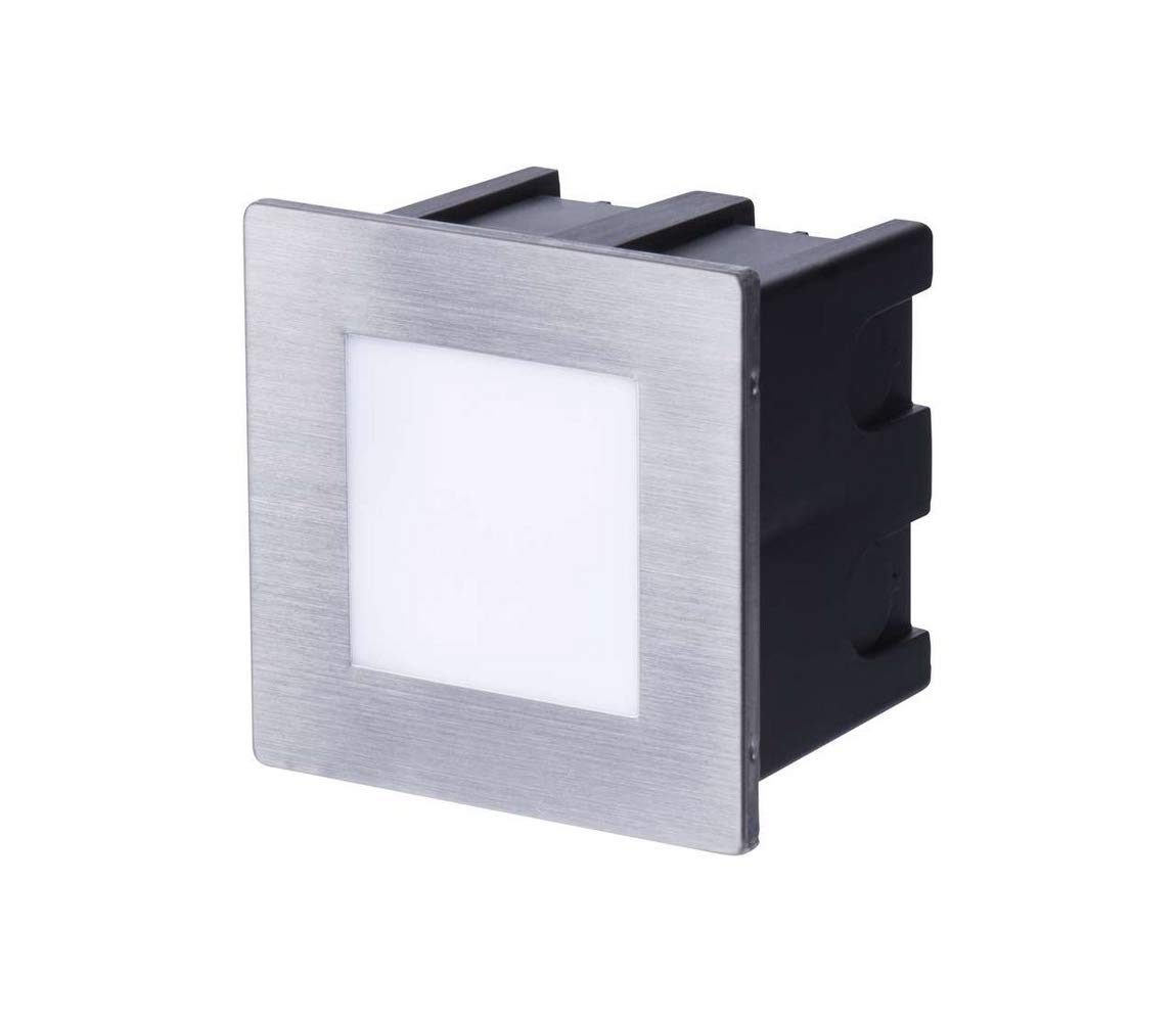 Emos - Luz LED para escaleras (rectangular, 123 x 53 x 61 mm, 1,5 W, 230 V, 4000 K, 55 lúmenes, IP65): Amazon.es: Iluminación