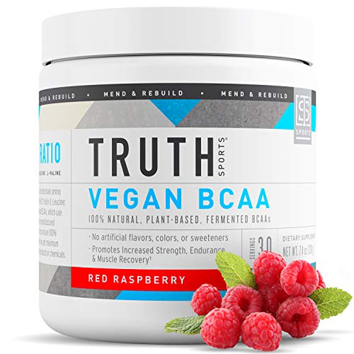 Truth Nutrition Vegan BCAA Powder- All Natural Branched Chain Amino Acids for Energy, Muscle Building, Post Workout Recovery and Endurance (Raspberry, 30 Servings)
