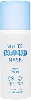 ETUDE HOUSE White Cloud Mask Peeling 3.38 fl.oz. (100ml) - AHA & BHA White Bubble Wash off Mask, Removes Dead Skin Cell, Skin Smooth Double Peeling Mask