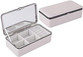 Jewelry Box Separate Jewelry Box Earrings Storage Box Earrings Box Storage Box(Beige One Size)