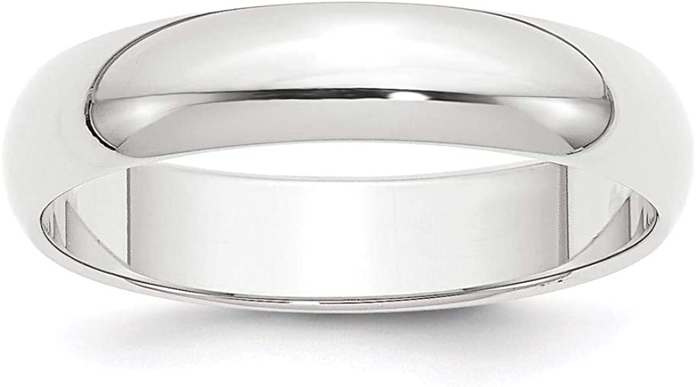 Platinum 5mm Half Round Wedding Ring Band Classic Domed Fashion Jewelry For Women Gifts For Her