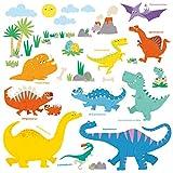 DECOWALL DS-8008 Dinosaurio Colorido (English Ver.)(Pequeña) Vinilo Pegatinas Decorativas Adhesiva Pared Dormitorio Saln Guardera Habitaci Infantiles Nios Bebs
