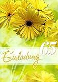 Einladungskarten 65. Geburtstag Frau Mann mit Innentext Motiv Blumen 10 Klappkarten DIN A6 im Hochformat mit weißen Umschlägen im Set Geburtstagskarten Einladung 65 Geburtstag Mann Frau K137