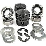 HD Switch (4 Pack) Front Wheel Bushing to Bearing Conversion Kit Replaces 532009040, 9040H, 532124959, 5920H, 9040HR, 9040N Husqvarna Sears Craftsman AYP
