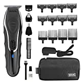 Wahl Aqua Blade Rechargeable Wet Dry Lithium Ion Deluxe Trimming Kit with 4 Interchangeable Heads for Shaving, Detailing, & Grooming Beards, Mustaches, Stubble, Ear, Nose, & Body – Model 9899-100