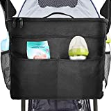 XBERSTAR Parents Organizer Bag,Universal Fit for All Baby Storage Multiple Pockets Zipper,Carrying Bottles,Diapers,Toys and Snacks