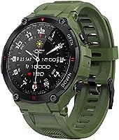 ANSUNG Smartwatch Herren Fitness Tracker wasserdicht 50m, Bluetooth-Anruf,voller Touchscreen Stoppuhr Impulsuhren...