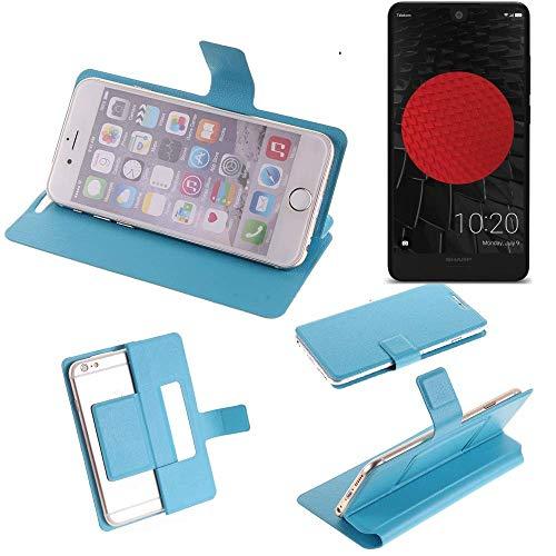 K-S-Trade® Flipcover Für Sharp Aquos C10 Schutz Hülle Schutzhülle Flip Cover Handy Case Smartphone Handyhülle Blau
