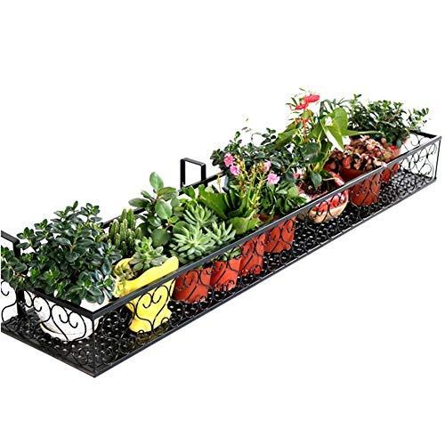 Uotyle ウィンドウボックスホルダー お花 庭・園芸 吊り下げ 壁掛け プランター ガーデニング グリーンガーデン (ブラック)