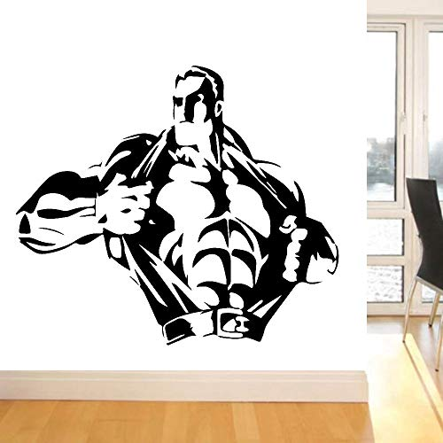 HGFDHG Pegatinas creativas para la pared del culturismo fitness hogar removibles pegatinas de vinilo gimnasia familiar arte mural