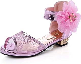 680c2255263b Mobnau Cute Flower Leather Outdoor Fashion Sandles Girls Sandals