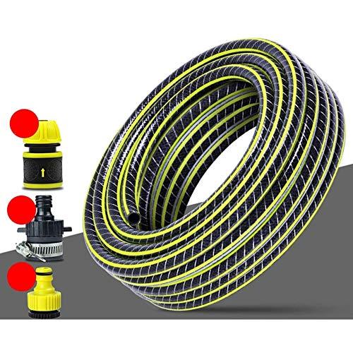 Manguera Manguera Jardín 5M Plástico PVC Manguera de Agua 4 Puntos de la Piel de Serpiente Anticongelante Jardín a Prueba de Explosiones de Tuberías Grifo Tubo Manguera Jardín