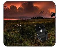 マウスパッドシルエットクラウドサンセットホースノンスリップキーボードマウスマット