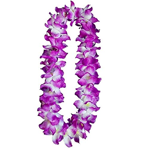 Artificial & Dried Flowers - Hawaiian Party Flower Garlands Necklace Tropical Beach Pool Party Dress Decoration Birthday Wreath Floral Necklace Lei for Party - (Color: B)