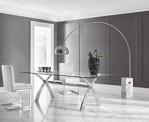 DUGARHOME - Mesas de Comedor Modernas - Mesa Acero/Cristal (200x106)