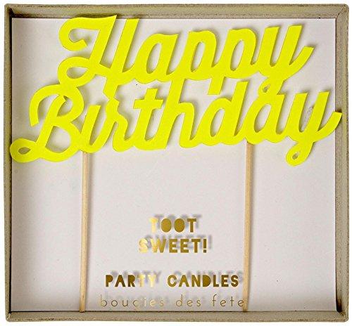 Meri Meri Toot Sweet Happy Birthday Candles