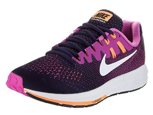 Nike Damen Air Zoom Structure 20 Laufschuhe, Mehrfarbig (Purple Dynasty/Fire Rosa/Peach Cream/Weiß, schwarz/Foto Blau/Ghost Grün/Weiß), 38.5 EU
