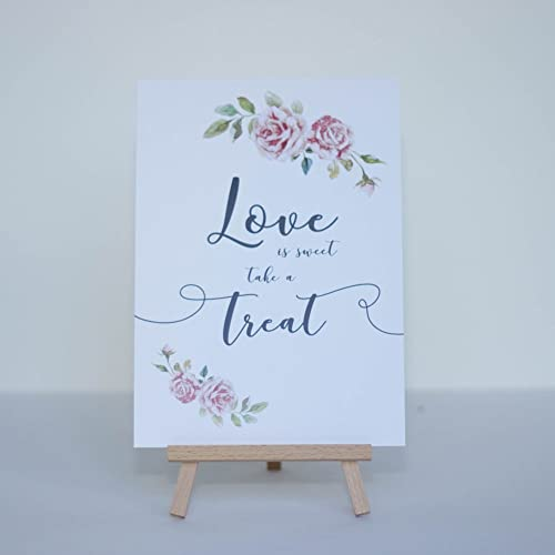 Sweet Table Sign Love is Sweet Personalised Free Standing Rustic Wedding Table