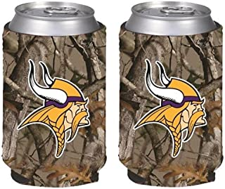 NFL Football Vista Camo Beer Can Kaddy Collapsible Holder 2-Pack - Pick Team!