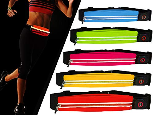 LED Waist Pack Bag, Running Workout Belt – Best High Visibility Runners Belt For Men And Women - This Fanny Pack Fits iPhone 6, 6S Plus & Android Smartphone – Waterproof, Bright, USB (orange)