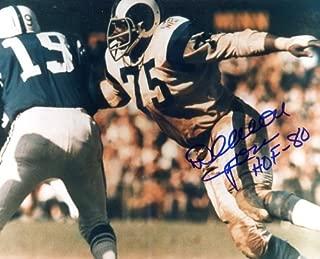 deacon jones autographed football