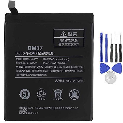 Ellenne Batería compatible con Xiaomi Mi 5S Plus BM37 de alta capacidad 3800 mAh con kit de desmontaje incluido