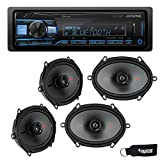 Alpine UTE-73BT Bluetooth Receiver (No CD), and Two Pairs of Kicker 44KSC6804 6x8 / 5x7 Coaxial Speakers