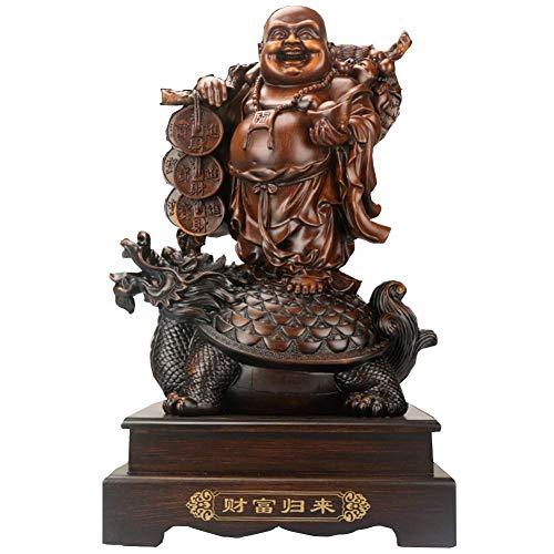 LXHJZ Adorno Estatua Feng Shui, Figuras Buda riendo, decoración Oficina en el hogar, bendición Prosperidad y Riqueza para Regalo