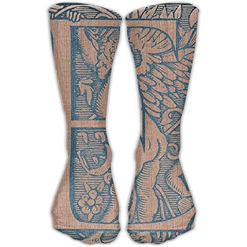 Unisex Classics Socken Initial E Design Athletic Stockings Lange Socke Einheitsgröße 30 cm