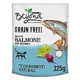 BEYOND Crocchette Gatto Grain Free Ricco in Salmone con Manioca - 8 Sacchi da 325 g
