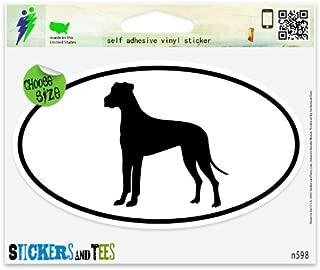Great Dane Dog Breed Shape Oval Vinyl Car Bumper Window Sticker 5