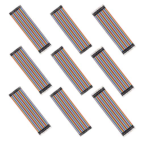 Yizhet 9 Pack/360 Pcs Cavetti Jumper Filo Dupont Multicolore Wire 28AWG Cavi pin maschio a femmina, pin maschio a maschio, pin femmina a femmina tagliere ponticelli breadboard per Arduino Raspberry Pi