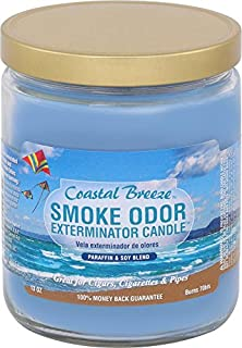 Smoke Odor Exterminator 13oz Jar Candle, Coastal Breeze