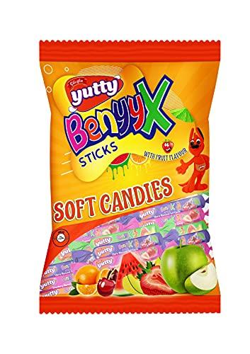 Premium Kaubonbon Mix | Halal Süßigkeiten Geschenk | Sweets Candy | Kinder Bonbon | Fruchtbonbon von YUTTY (Fruchtmix 170 Gramm)