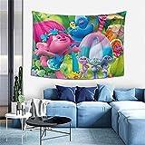 Trolls Wandbehang, Überwurf, Decke, Hippie-Wandteppich, Dekoration, Bohemian-Bettdecke, Tagesdecke, Yoga, Meditation, 101,6 x 152,4 cm