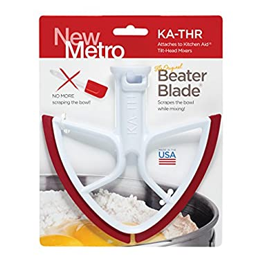 Original Beater Blade for KitchenAid Tilt-Head Mixer, 4.5 and 5 Quart , KA-THR, Red, Made in USA