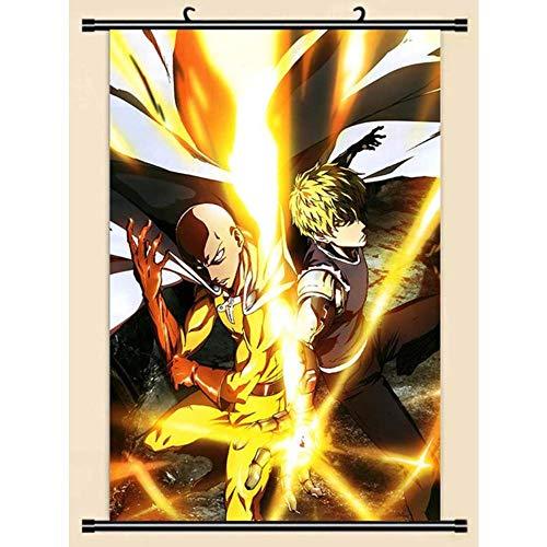 HNJYXX Póster de Anime Manga One Punch Man, Rollo de Pared, Pintura, Imagen, Papel Tapiz, Tela artística, decoración moderna-40x60cm/15.75inchx23.62inch
