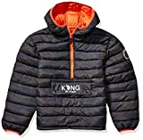 US Polo Association Boys' Big Bubble Jacket (More Styles Available), Anorak Olive Camo, 8