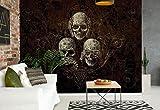 Nicht Hören Sehen Totenkopf Alchemy - Wallsticker Warehouse - Fototapete - Tapete - Fotomural - Mural Wandbild - (978WM) - XXL - 312cm x 219cm - VLIES (EasyInstall) - 3 Pieces