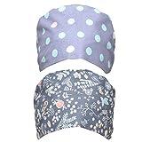 SOIMISS 2Pcs Bouffant Tappo Turbante Regolabile Bouffant di Copertura dei Unisex cap con Cravatta per La Bellezza Lavoratore Prodotti per La Cura Personale