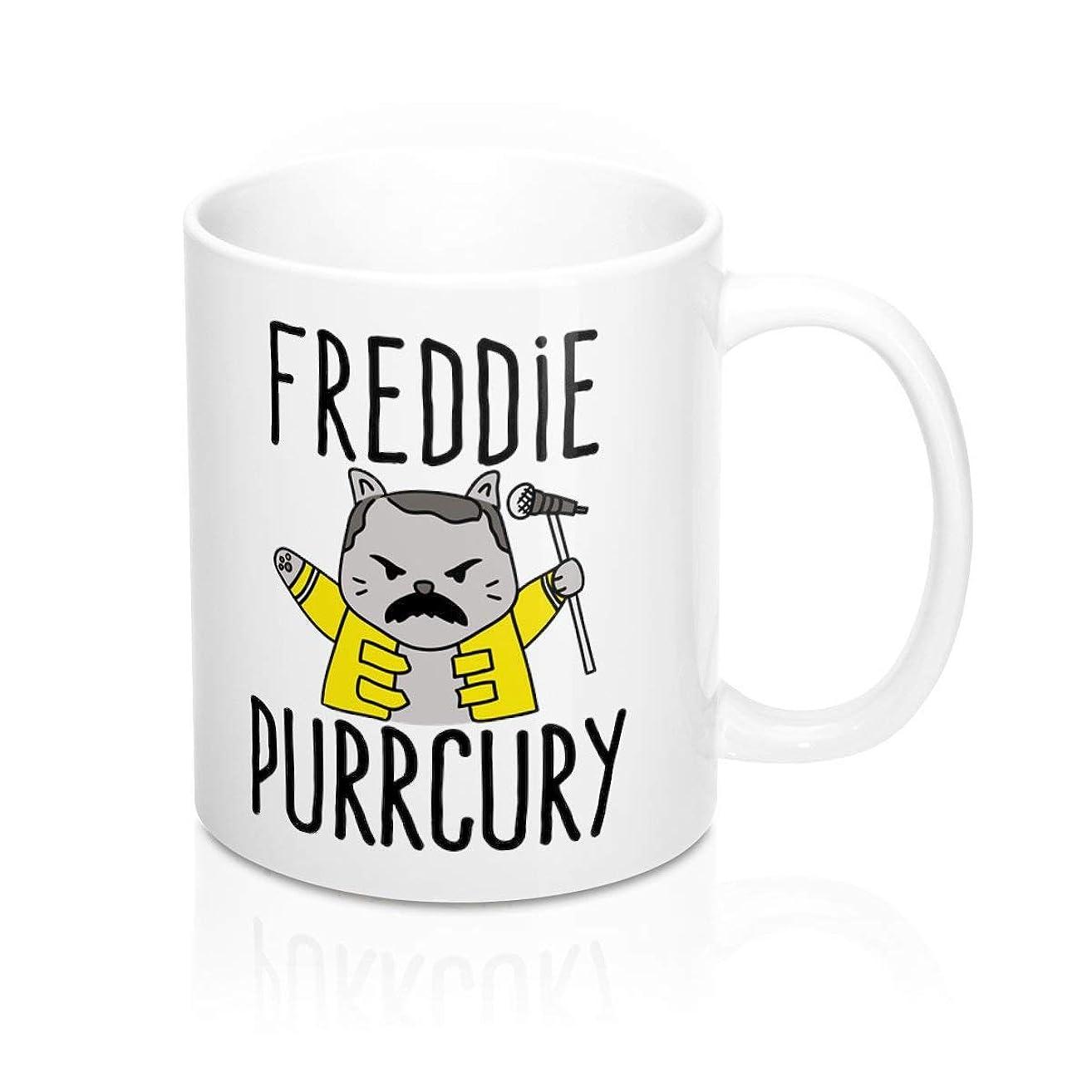 Freddie Mercury Mug - Freddie Purrcury; Freddie Mercury Cat- Coffee Mug, Tea Mug, Cute Mug - Gift, cute gift, Souvenir, 11oz, 15oz