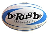 beRugbe Training Dual Ballon de rugby Bleu Ciel Taille 3