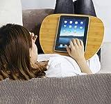 Cora Stands Support avec Oreiller pour Moniteur Tablette Tactile Ordinateur Portable, Bureaux et Postes de Travail, Rehausseur d'écran, Petite Taille 40x30cm
